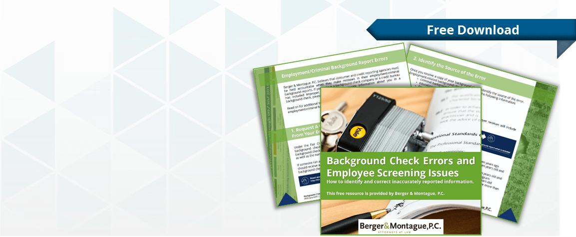 Download our eBook and learn how to address errors on your background  report.